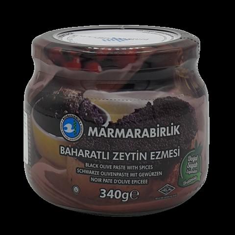Паста из черных оливок со специями MARMARABIRLIK, 340 гр