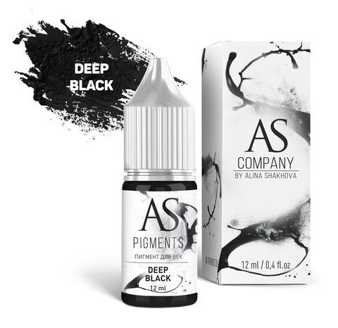 Пигмент для век AS Deep black (Глубокий черный), 6 мл
