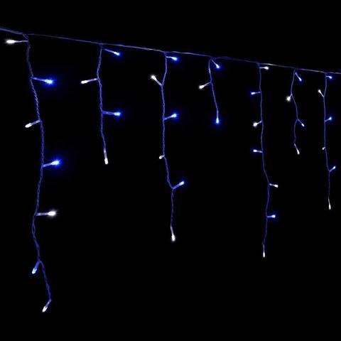 Купить сетодиодную новогоднюю гирлянду бахрома 5 м на 0.5 силиконовый провод прозрачный