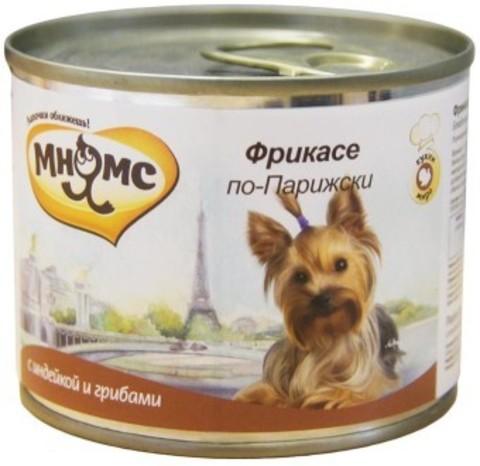 Мнямс консервы для собак Фрикасе по-Парижски (индейка c пряностями)