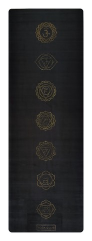 Коврик для йоги Chakras Gold 183*61*0,3 см из микрофибры и каучука