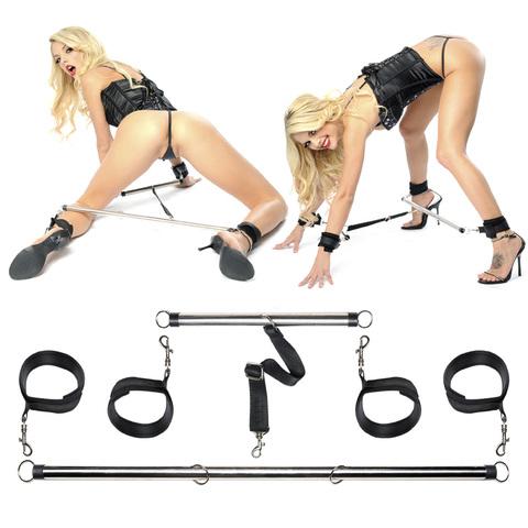 Комплект наручников и наножников с распорками Spread  em Bar and Cuff Set