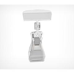 Ценникодержатель на прищепке пластиковый прозрачный (10 штук в упаковке)