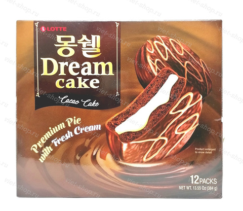 Пирожное LOTTE Dream Cake cacao, Корея, 384 гр.