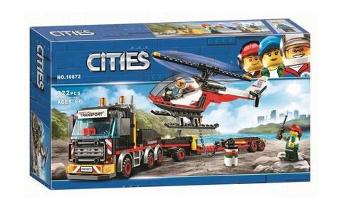 Конструктор Cities 10872 Перевозчик вертолета
