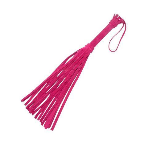 Розовая мини-плеть «Королевский велюр» - 40 см.