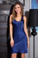 Сорочка Миа-Миа натуральный шёлк синий