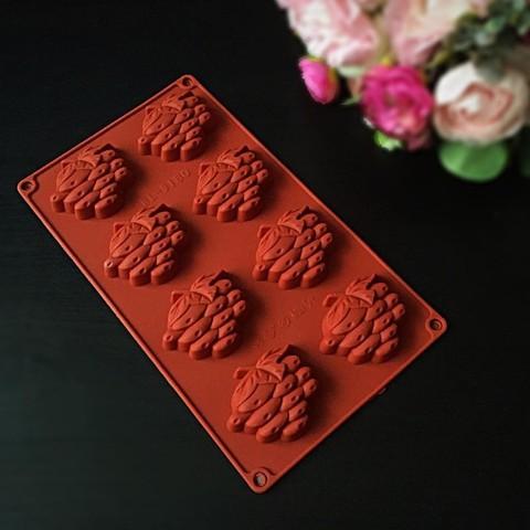 Силиконовая форма для шоколада Виноград 8в1 (60х55мм)