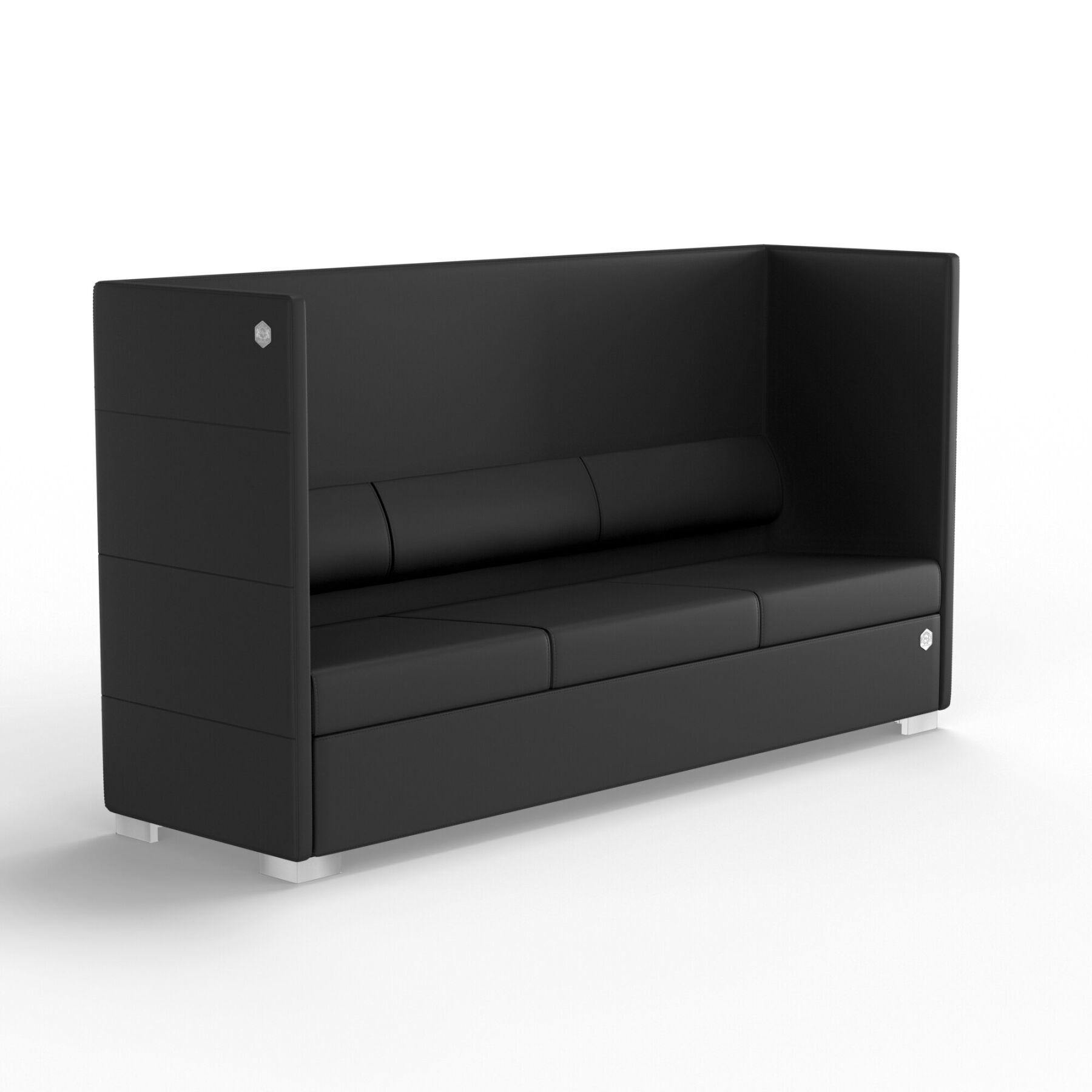Трехместный диван KULIK SYSTEM PRIVATE Экокожа 3