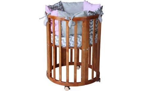 Кроватка детская Polini kids Simple 910, орех