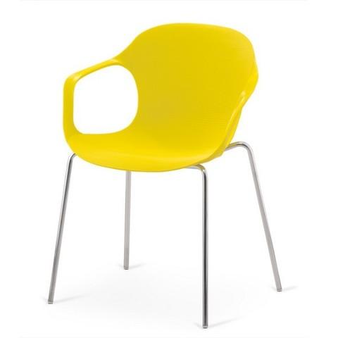 Стул пластиковый для кафе XRB-078-BY Yellow