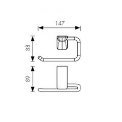 Держатель для туалетной бумаги KAISER Glory BR KH-4511 схема