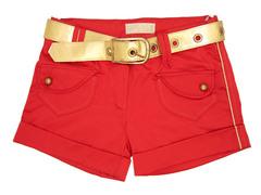 3894 шорты женские, красные