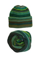 Зеленый полосатый комплект