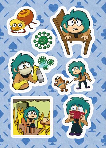 Лист стикеров «13 карт. Зонтик»