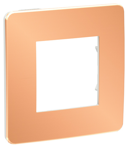 Рамка на 1 пост. Цвет Медь/белый. Schneider Electric Unica Studio. NU280257