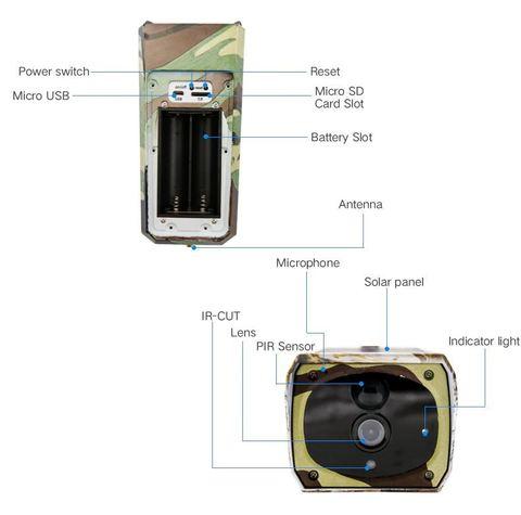 Wi-Fi камера видеонаблюдения  с солнечной панелью  Suntek PR 500