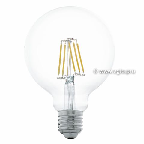 Лампа LED филаментная прозрачная Eglo CLEAR LM-LED-E27 6W 550Lm 2700K G95 11503
