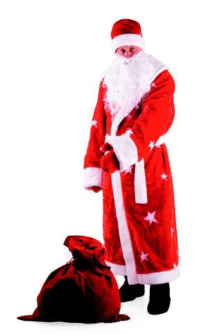 Дед Мороз мех красный