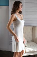 Сорочка Mia-Mia натуральный шёлк молочный