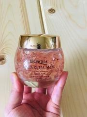 Ночная смягчающая маска BioAqua  с лепестками роз, 120 гр