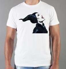 Футболка с принтом Малефисента, Анджелина Джоли (Maleficent ) белая 006