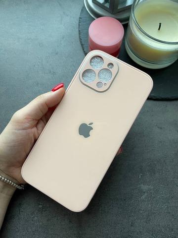 Чехол iPhone 12 /6,1''/ Glass Pastel Full Camera /grapefruit/