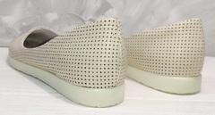Балетки бежевые кожаные El Passо  (24 см)