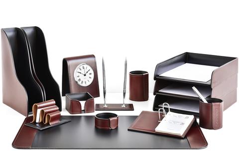 Настольный набор из кожи | Premium | FG BOLOGNA + СUOIETTO ЧЕРНЫЙ