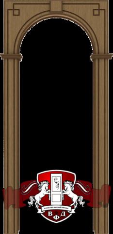 Арка межкомнатная шпонированная Владимирская фабрика дверей, Классика, цвет орех