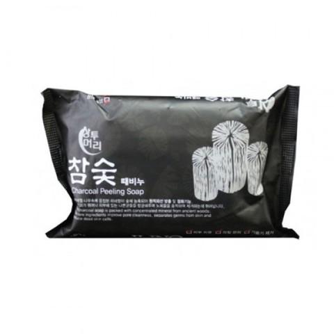 Juno Sangtumeori Peeling Soap Charcoal Мыло с отшелушивающим эффектом с углем150ml