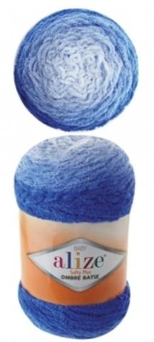 Пряжа Alize Softy Plus Ombre Batik цвет 7282