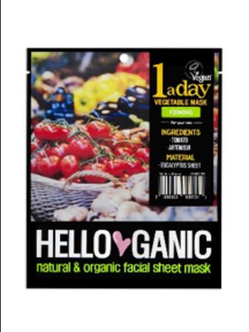 HELLO GANIC | Лифтинг-маска для лица с экстрактами Томатов и Артемизии / One a day Vegetable mask