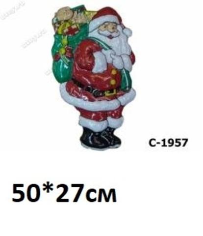 Панно Дед Мороз С-1957 пластик.