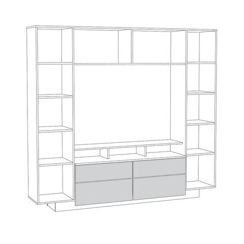 Шкаф комбинированный Румба 03.272 Моби белый глянец
