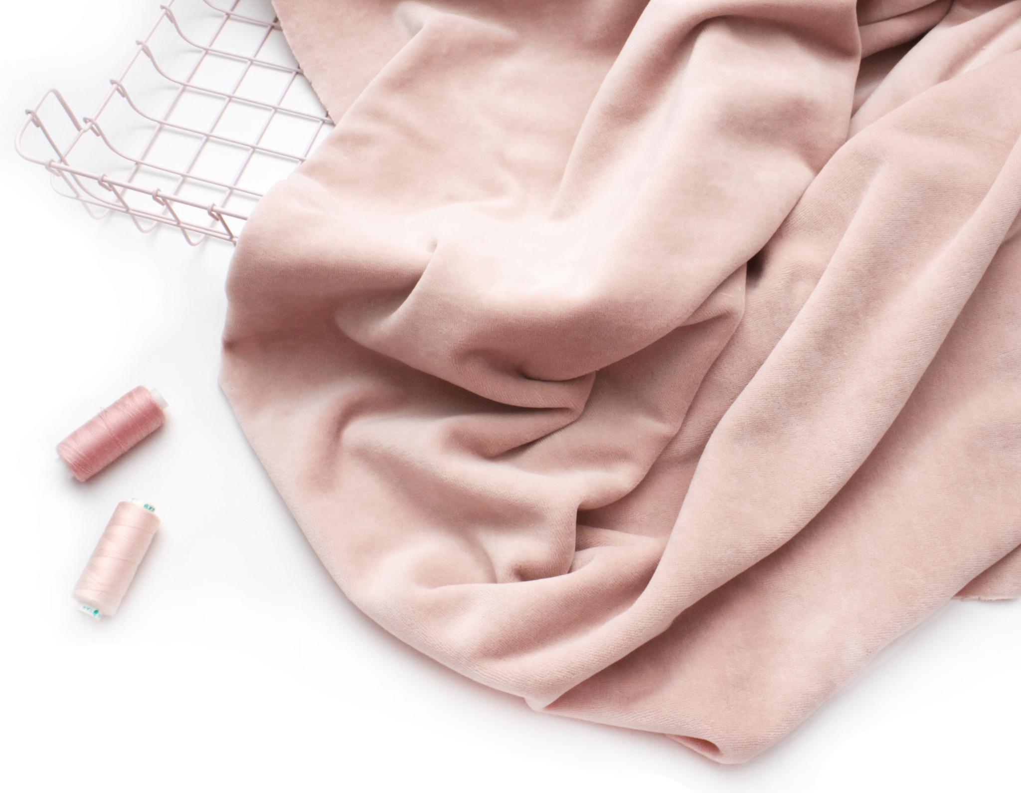 Велюр розовое облако