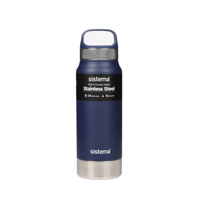 "Термобутылка Sistema ""Hydrate"" 650 мл, цвет Синий"