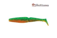 Виброхвост Mottomo Zander 10см Motor Oil Green Glitter 5шт.