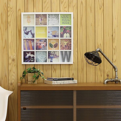 Панно для фотографий Gridart белое