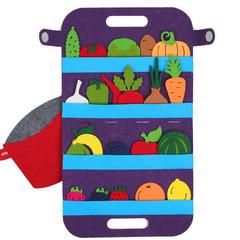 Сумка-игралка Овощи, фрукты и ягоды, Smile decor