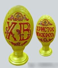 Свеча пасхальная яйцо резное