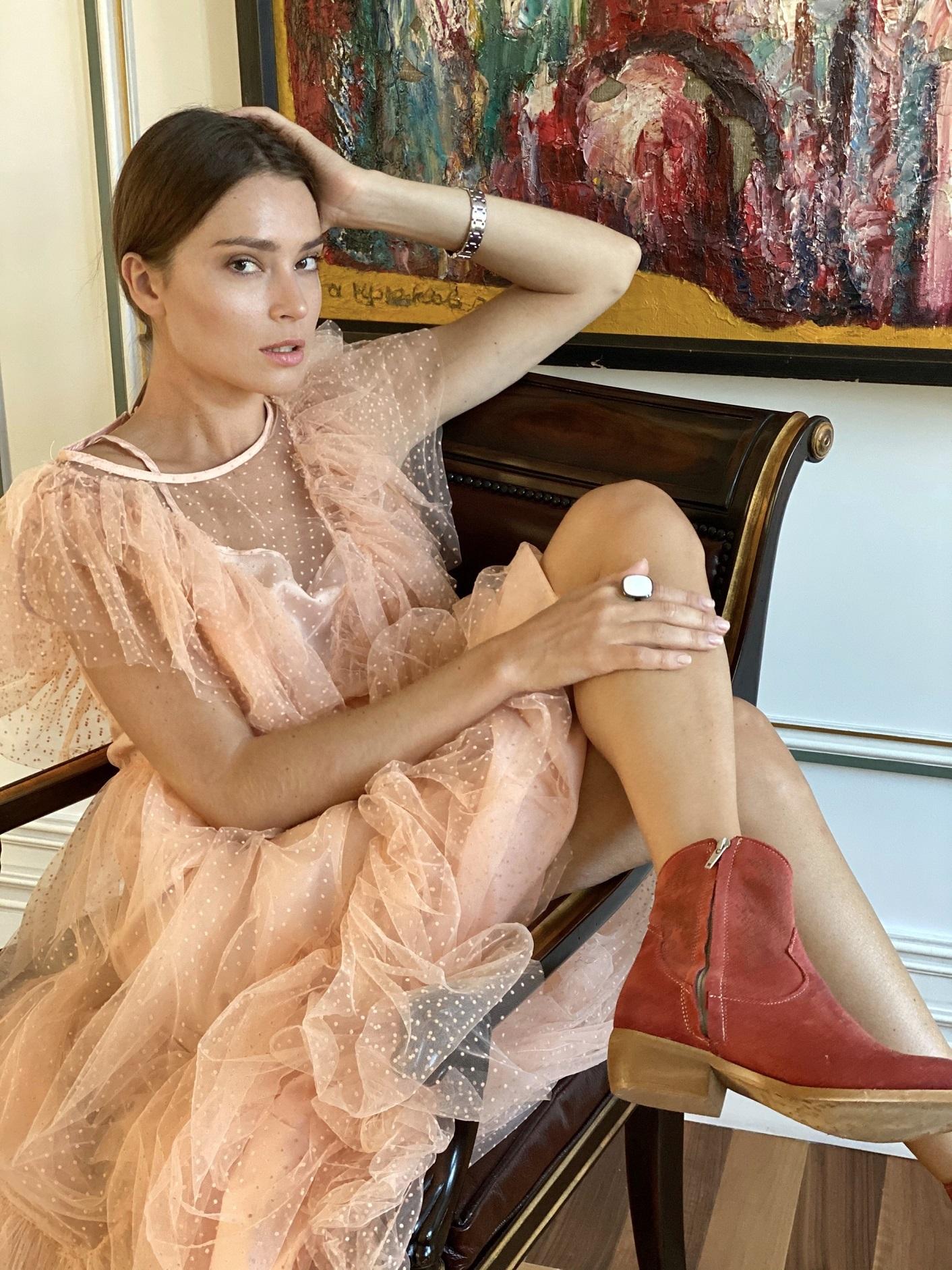 Платье, Paccia, Mademoiselle (пудра)