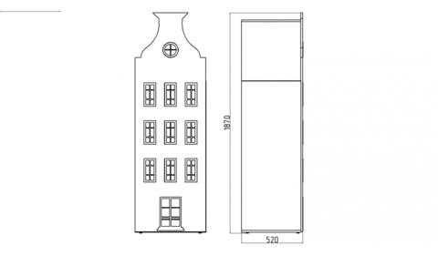 Шкаф-домик Амстердам - 5(Н)