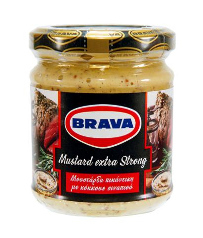 Горчица острая с зернами премиум Brava 200 г