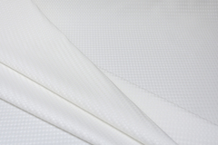 Льняной жаккард широкий, цвет белый