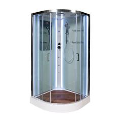 Душевая кабина DETO А01 LED с кнопкой и гидромассажем 100х100 см