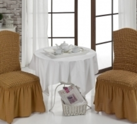 Чехлы на стулья (2 шт) цвет горчичный