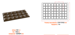 Форма поликарбонатная для шоколада - Плитка Нежность