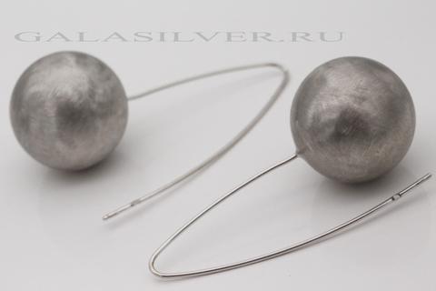 Серьги из серебра 925 без камней 15327 Италия
