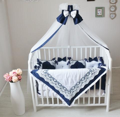 Комплект в кроватку Индиго, на 4 стороны кроватки